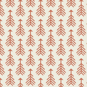 Arrows-Cream & Toasted Coral