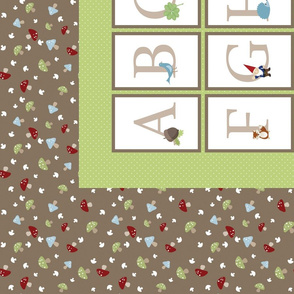Woodland Alphabet - Cheater Quilt