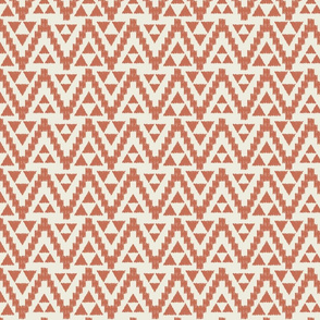 Geo Tribal-Cream & Toasted Coral