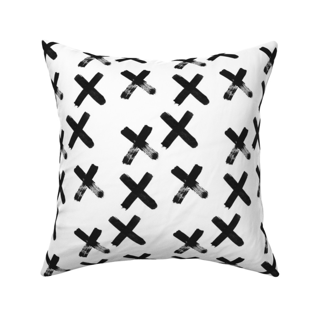 Catalan Throw Pillow featuring Black X  - elvelyckan by elevenhatsdesign