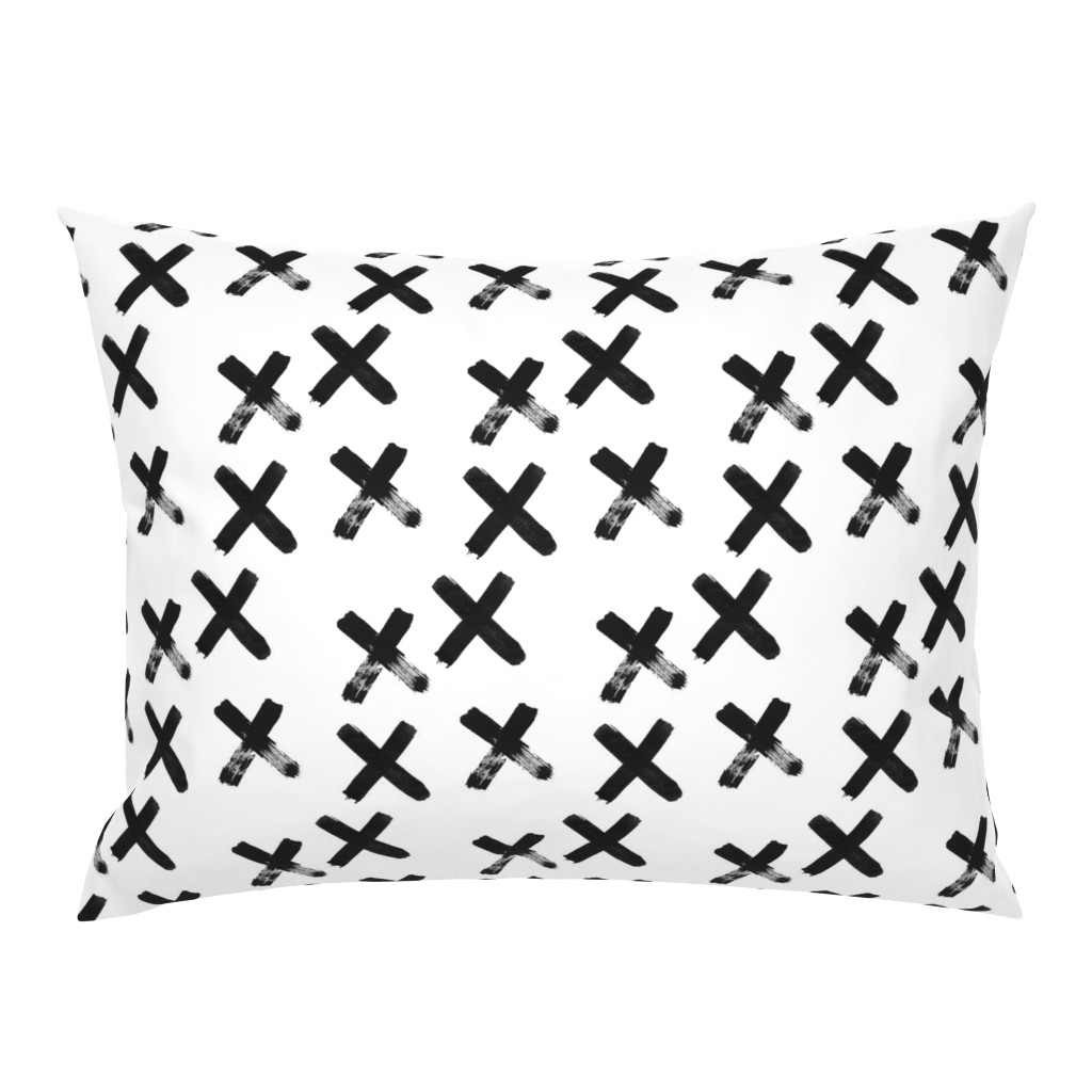 Campine Pillow Sham featuring Black X  - elvelyckan by elevenhatsdesign
