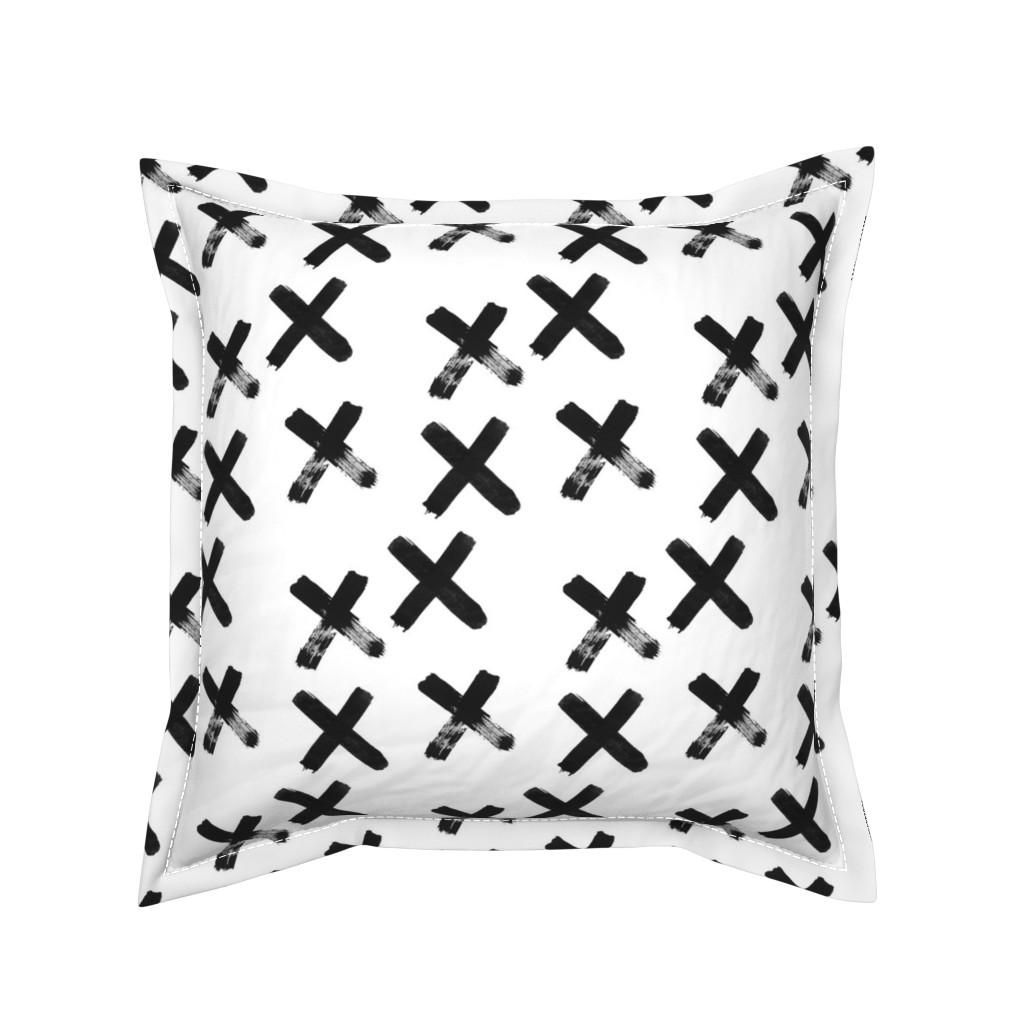 Serama Throw Pillow featuring Black X  - elvelyckan by elevenhatsdesign