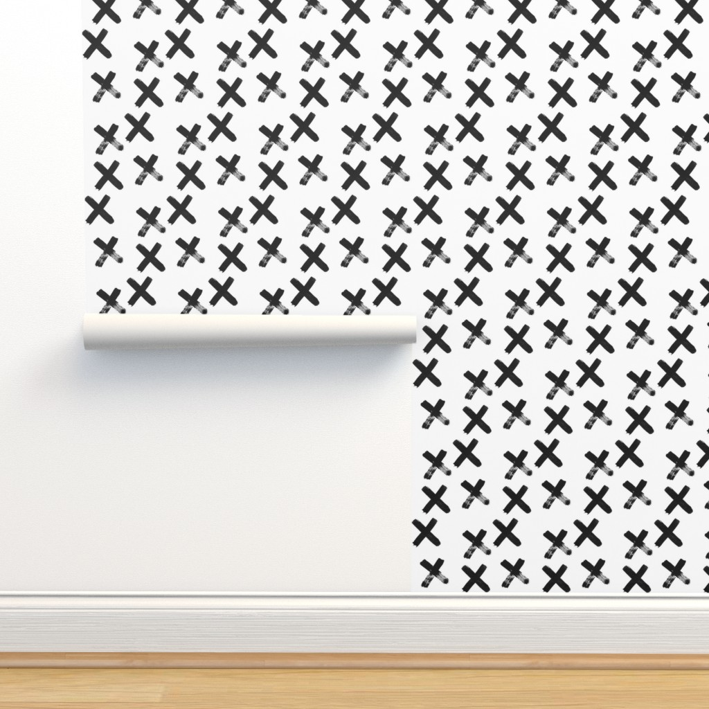 Isobar Durable Wallpaper featuring Black X  - elvelyckan by elevenhatsdesign