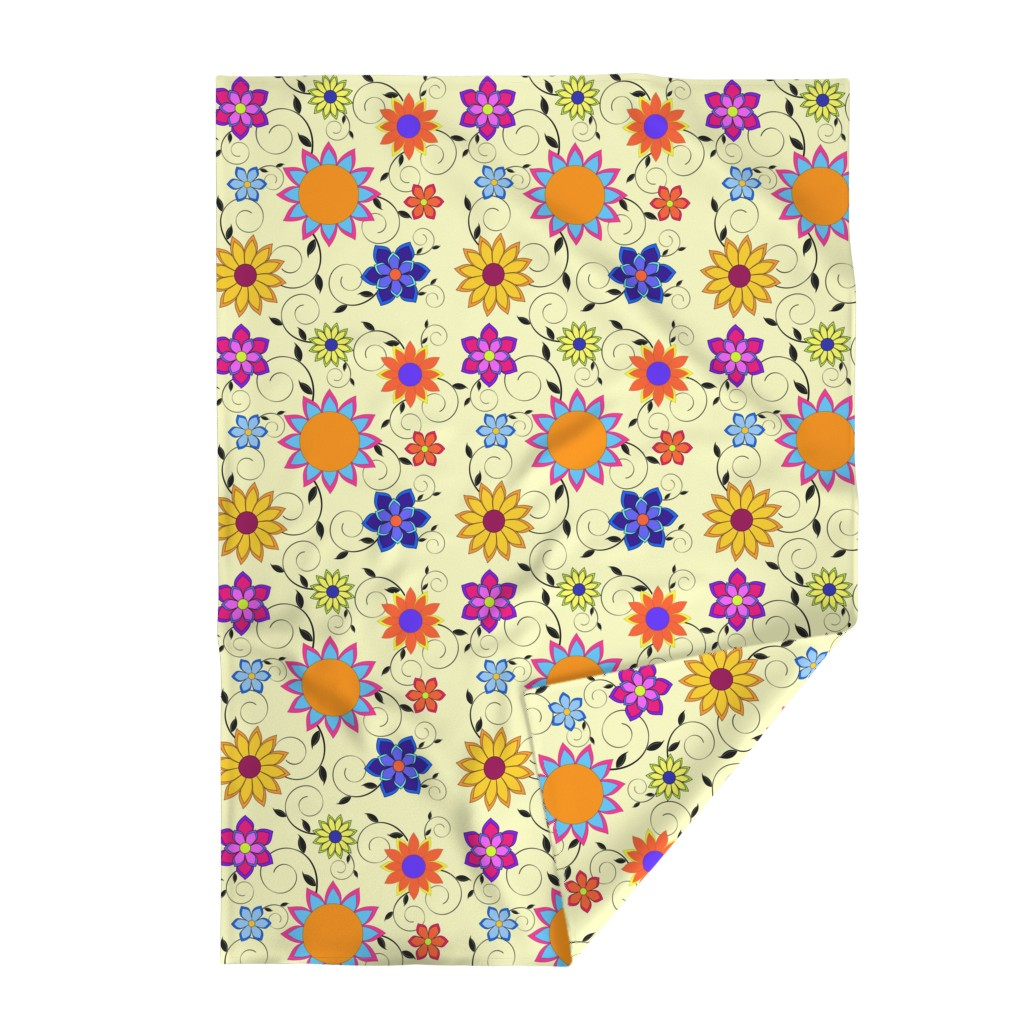 Lakenvelder Throw Blanket featuring Flashy Flower Garden Yellow by sssowers
