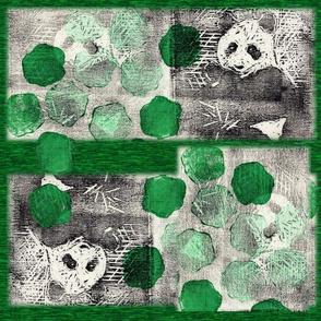 panda lino print