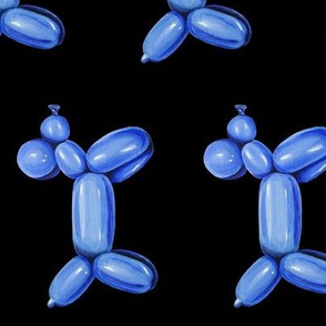 Blue Balloon Dog, Rotated