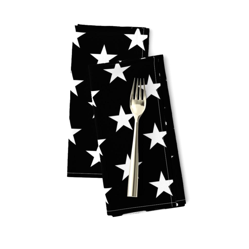 Amarela Dinner Napkins featuring Thin Blue Line quilt stars - dark gray field by renee2181