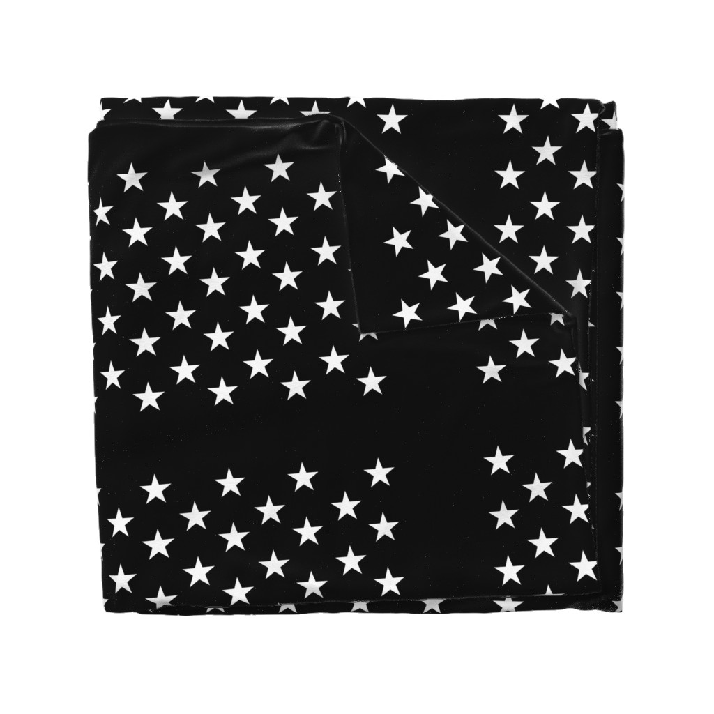 Wyandotte Duvet Cover featuring Thin Blue Line quilt stars - dark gray field by renee2181