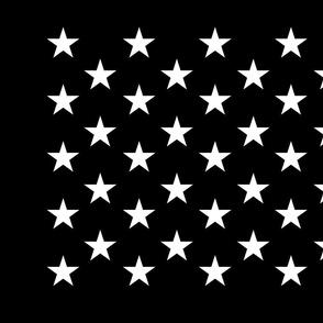 Thin Blue Line quilt stars - dark gray field