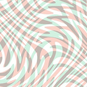 feather swirl in pale hues