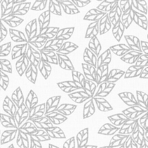 Blazing Leaves - charcoal frost-ed