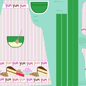 Yum_yum_yum_Dolly_and_me_coordinating apron for mom_1yard_kit