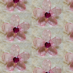 Glass pink daisy - large