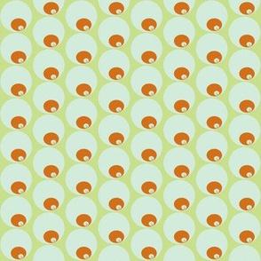 orange olive circle in circle