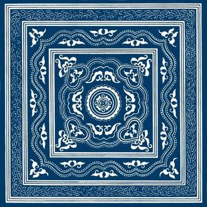 Chinese Indigo Tiles ~ Liang