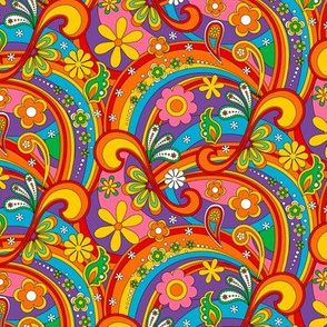1960_Psychedelic Flower Power_Black Lines 50%size