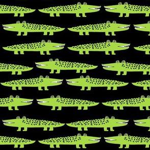 alligator // lime green alligator fabric alligator fabric pattern print tropical andrea lauren print andrea lauren fabric