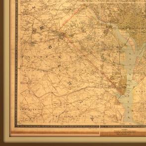 Washington DC vintage map, large