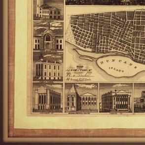 St. Louis vintage map, large