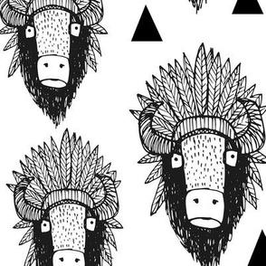Southwest buffalo black and white