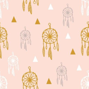 Dreamcatcher pink and gold