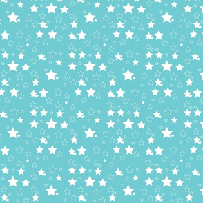Blue and white stary night