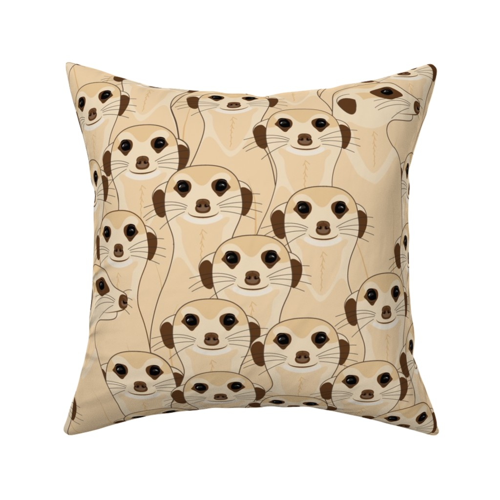 Catalan Throw Pillow featuring Meerkats - Suricata_400% by mia_valdez
