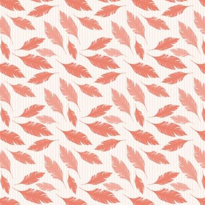 Coral Pink Feathers