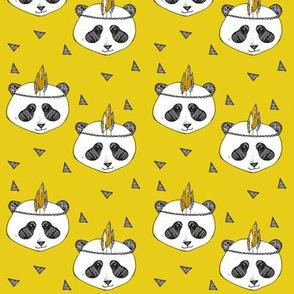 panda mustard SMALL PRINT - elvelyckan