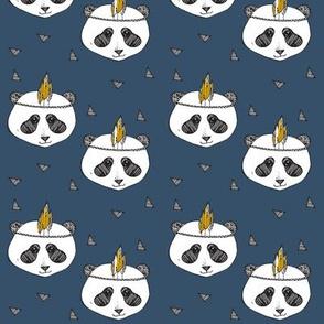 panda blue SMALL PRINT - elvelyckan