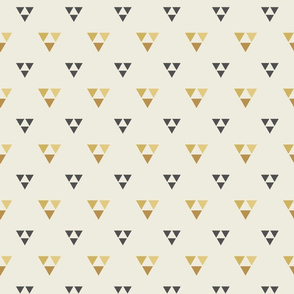 Trilogy Triangles-Lined-Mustard, Cream, & Gray