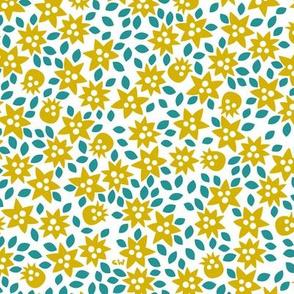 Golden Antarctic Flowers