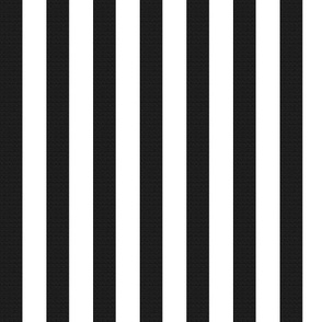 Black Burlap Textured and Flat White Stripes (vertical)