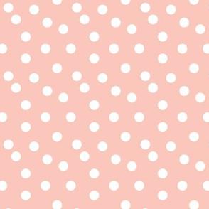 Polka Dot - Pale Pink (Smaller Version) by Andrea Lauren
