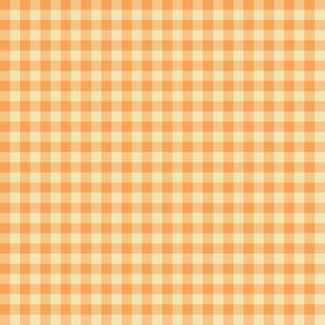 orange creamsicle gingham