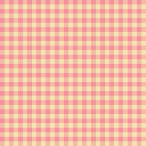 pink creamsicle gingham