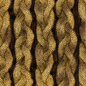 Gold Cable Knit
