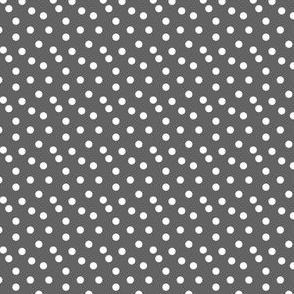 Scattered Dots - Medium Dark Gray by Andrea Lauren