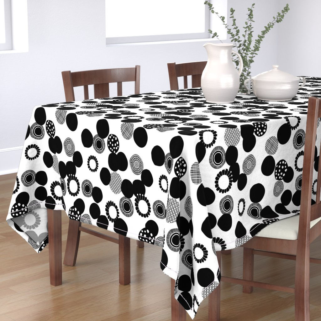 Bantam Rectangular Tablecloth featuring Rock Garden by spellstone