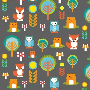 owl and friends woodland creatures