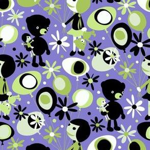 Dolls and Bears (purple)