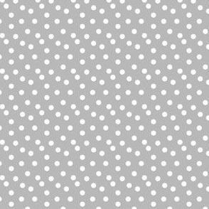Scattered Dots - Lightest Gray by Andrea Lauren