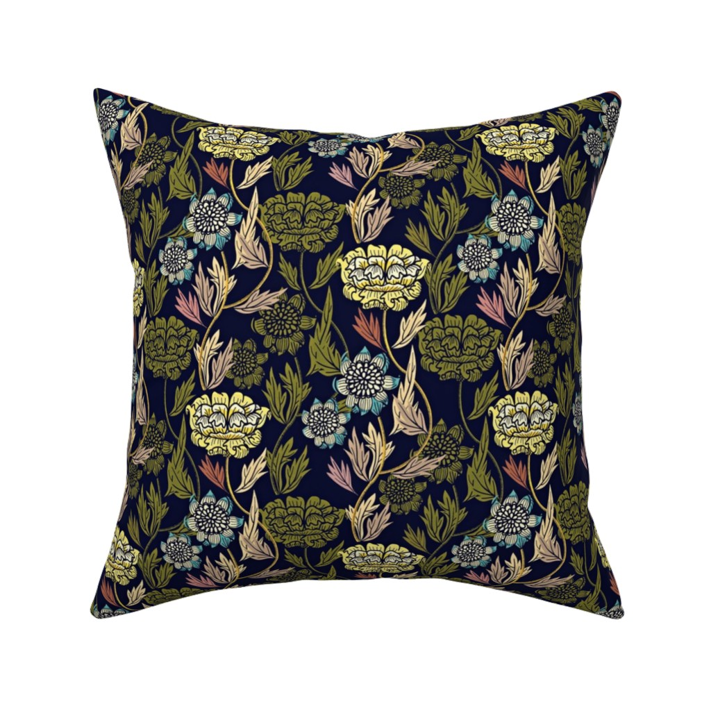 Catalan Throw Pillow featuring Joy Blooms by susan_polston