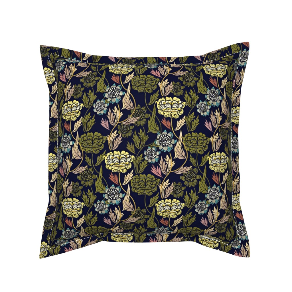 Serama Throw Pillow featuring Joy Blooms by susan_polston