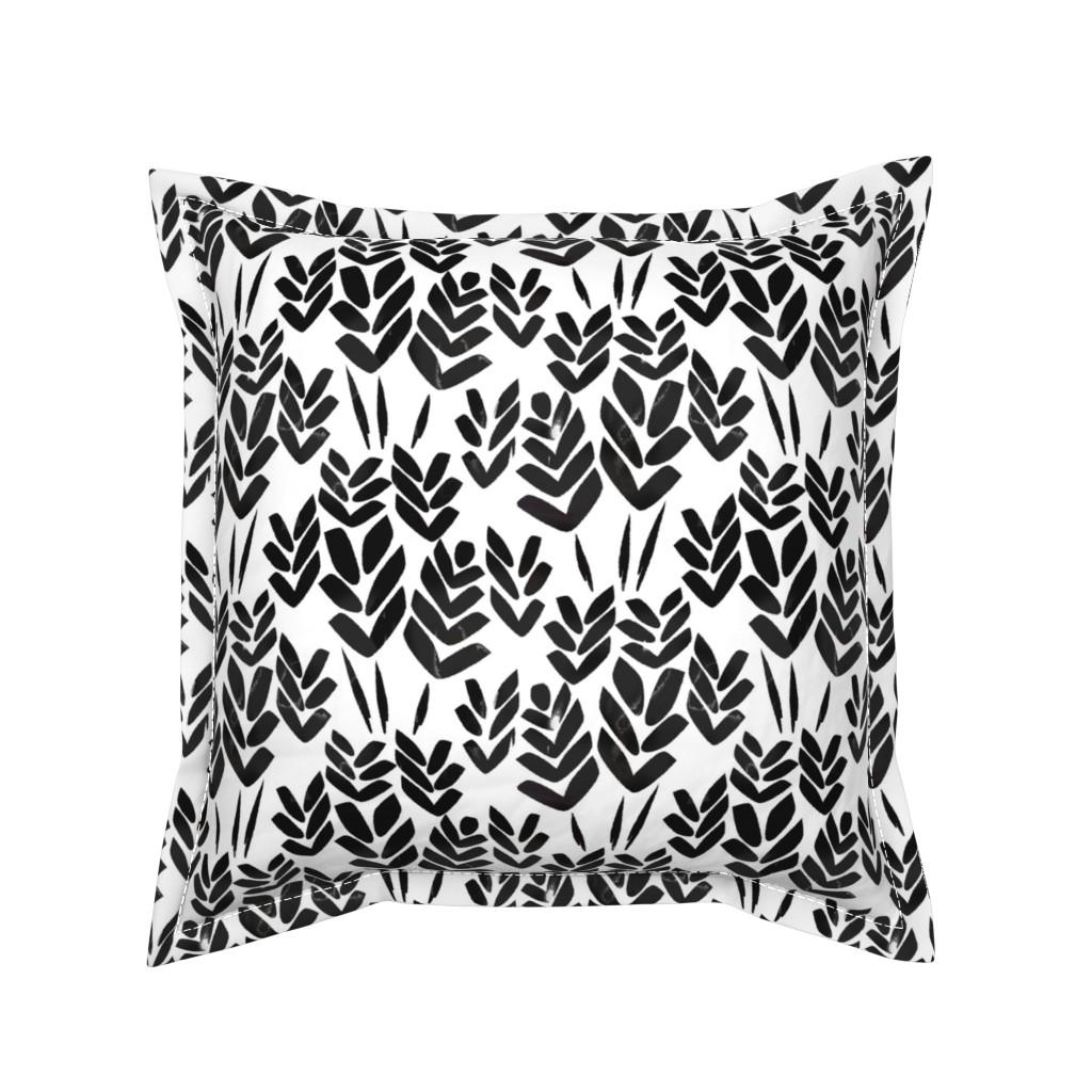 Serama Throw Pillow featuring Wheat Fields by alannah_brid