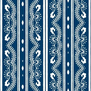 Chinese Indigo Tiles ~ Bian ~ Variation SS
