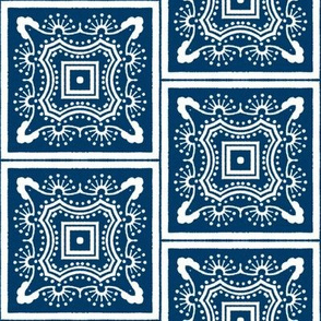 Chinese Indigo Tiles ~ Bian ~ Variation Wu