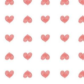 Heart Pattern Smaller White Spread