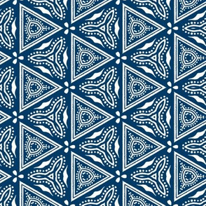 Chinese Indigo Tiles ~ Bian ~ Variation Chi