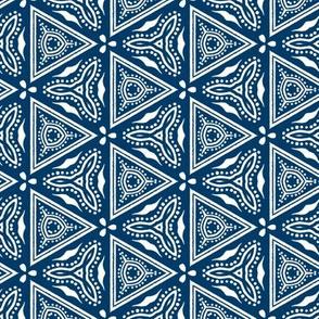 Chinese Indigo Tiles ~ Bian ~ Variation Chi